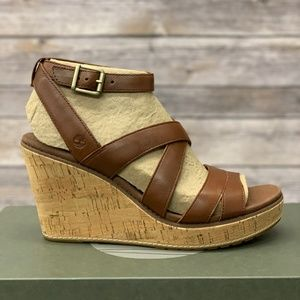 Timberland Women's Leather Wedge Sandals